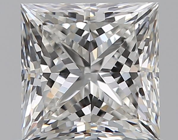 0.77-Carat Natural Ideally Cut Princess Diamond
