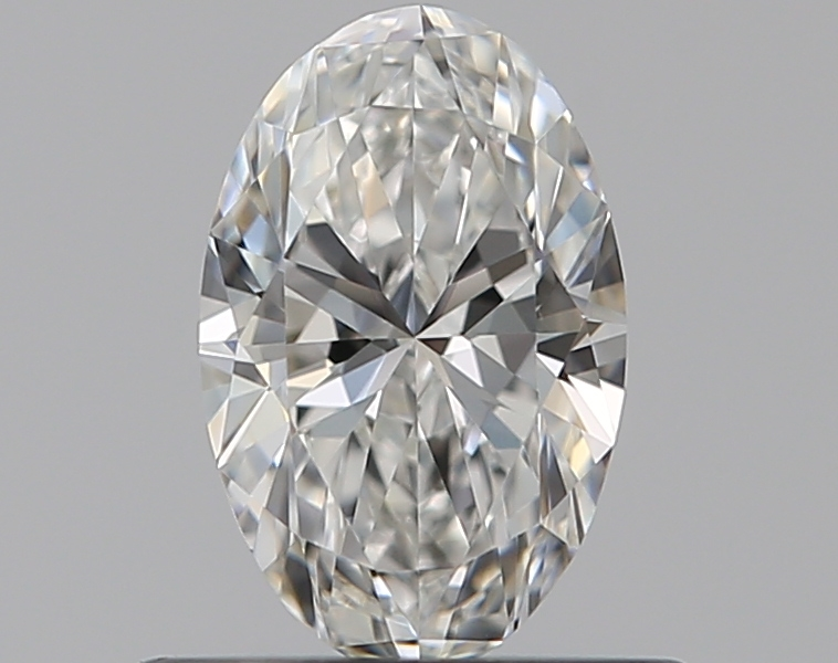 0.45-Carat Natural Ideally Cut Oval Diamond